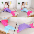 Child Audlts Luxury Mermaid Tail Blanket Soft  Flannel Quilt Sleeping Bag
