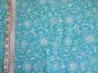 Dutch Treat White drawings on Blue 100% cotton Fabric from Riley Blake
