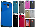 For Alcatel OneTouch Flint HARD Astronoot Hybrid Rubber Silicone Case Cover