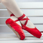 NEW Ballet Pointe Shoes Wome's Girls Dance Toe Shoes with Ribbon ALL Size