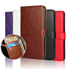 Leather Wallet Pouch Flip Book Card Holders Slots Case Cover For Mobile Phone