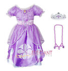Disney Sofia The First Princesse Filles Robe Jupe Enfants Costume Dress 3-9 Wand