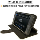 Flip Wallet Case For iPhone 7 / 7 Plus-Card Holder+Stand-Wolf Howling Under Brig