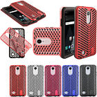 For LG Fortune ZigZag Shockproof Hybrid Rubber Silicone Case Cover Accessory