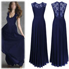 New Fashion Womens Long Lace Evening Party Ball Gown Prom Bridesmaid Dress