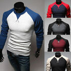 New Men's Fashion Casual Slim Fit Crew-neck Long Sleeve Tops Tee T-shirt 5 Color
