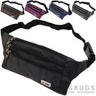 Mens / Ladies Sleek Nylon / Canvas Style Bum Bag / Waist Bag / Money Holder