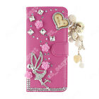 Cute PU Leather Bling Diamonds Crystal Wallet Flip Cover Case For WIKO Phone