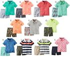 Carter's Baby Boy Polo Shirt Shorts Set 2pc Outfit Summer Newborn 3 6 Month NEW