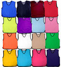 10x FOOTBALL MESH TRAINING SPORTS BIBS Kids Youth and Adult Sizes PRO QUALITY