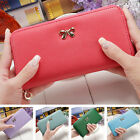 Fashion Women Faux Leather Wallet Lady Long Card Holder Handbag Bag Clutch Purse