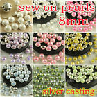 144P 8mm sewing on flatback pearl rhinestones stitch on  Montees Wedding Craft