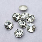 5/6/8/10/12/14/16/18/25mm point foiled back Rhinestones  Rivoli Crystal Clear pk
