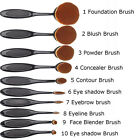 Fashion Cosmetic 10X Oval Cosmetic Makeup Brushes Foundation Contour Eyebrow XD