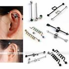 Sexy 14G Steel Skull Heart Key Twist Bar Industrial Cartilage Ear Ring Piercing