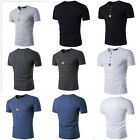 New Men's T-shirts Casual Short Sleeve Cotton Sports Summer SlimFit Basic