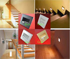 1/10pc PIR Motion Sensor Recessed Footlight Corner LED Stairway Light Wall Lamp