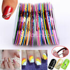 Mixed Colors 10/30 Rolls Striping Tape Line Nail Art Tips Decoration Sticker
