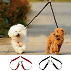 Double Dog Twin Strong Multicolor Lead Two Pet Dogs Walking Leash Safety