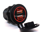 5V 4.2A Dual USB Port Mount Car Charger Socket Power Supply Adapter CA