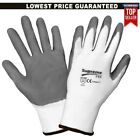 48 PAIRS NITRILE COATED WORK GLOVES GRIP BUILDERS CONSTRUCTION GARDENING OUTDOOR