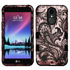 For LG K20 Plus IMPACT TUFF HYBRID Protector Case Skin Phone Cover +Screen Guard
