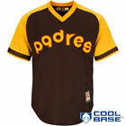 San Diego Padres Majestic Cooperstown Cool Base Team Jersey - Brown - MLB