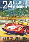 1962 Le Man 24 Hour Race Motor Racing Poster A3 / A2 Print