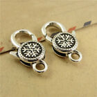 20PCS Antiqued Color Snowflake Lobster Clasps 14x25mm