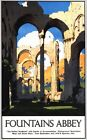 Vintage LNER Fountains Abbey Yorkshire Railway Poster A3/A2/A1 Print