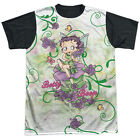 Betty Boop Flower Fairy Mens Sublimation Shirt with Black Back $28.5 CAD