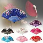 Chinese Lace Silk Flower Folding Hand Held Dance Fan Party Wedding Women Gift UP