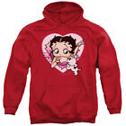 Betty Boop I Love Betty Mens Pullover Hoodie Red $44.95 USD