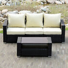 DIY Outdoor Patio Sofa Sectional Furniture PE Wicker Rattan Sofa Deck Couch New