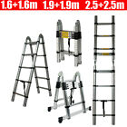 Telescopic Aluminium Alloy Ladder Extension Steps Folding Multipurpose Foldable