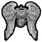 Embroidered Asphalt Angel Lady Biker Patch