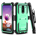 For LG Stylo 5/4/3 Plus Case Belt Clip Holster Hard Kickstand Hybrid Phone Cover