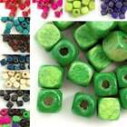 30g(150pcs approx) Loose Wooden Spacer Wood Beads Charms Cube 6x6mm WBSET05