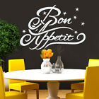 Bon Appetit Wall Decal Quote Vinyl Sticker Kitchen Decor Cafe Design Art MA180