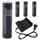 2/4/8/10pcs  3.7V Li-ion 18650 Rechargeable Battery or Battery + US Charger