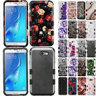 For Samsung Galaxy J7 PERX J7V IMPACT TUFF HYBRID Rubber Case Skin Phone Cover