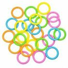 Assorted color 12/24pcs 44mm Plastic Snap Ring for Bathroom Shower Curtain leaf