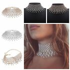 Shinny Rhinestone Collar Choker Statement Bib Necklace Crystal Women Jellery