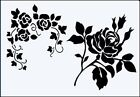 Rose Corner & Rose 190 micron robust Mylar Stencil - A5 - A4 - A3 ***NEW***