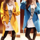Women Korean All-match cocoon Loose Jackets Long Sleeve Dust coat Outerwear