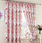 Blossom Pink Multi 3 Pass Thermal Blackout Printed Floral Curtains By Wendy Tait