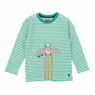 Joules Boys Jnr Jack Tee Shirt Green Striped Long Sleeve - Age 3, 4 & 5