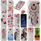Clear Rubber Pattern Soft TPU Cute Ultra-thin Case Cover For Samsung Huawei