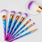 Purple 7Pcs Cosmetic Makeup Brushes Set Kit Eyeshadow Eyeliner Lip Brush Tools