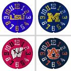 Choose Your NCAA Team Vintage Style Distressed Wood Round Clock by Imperial